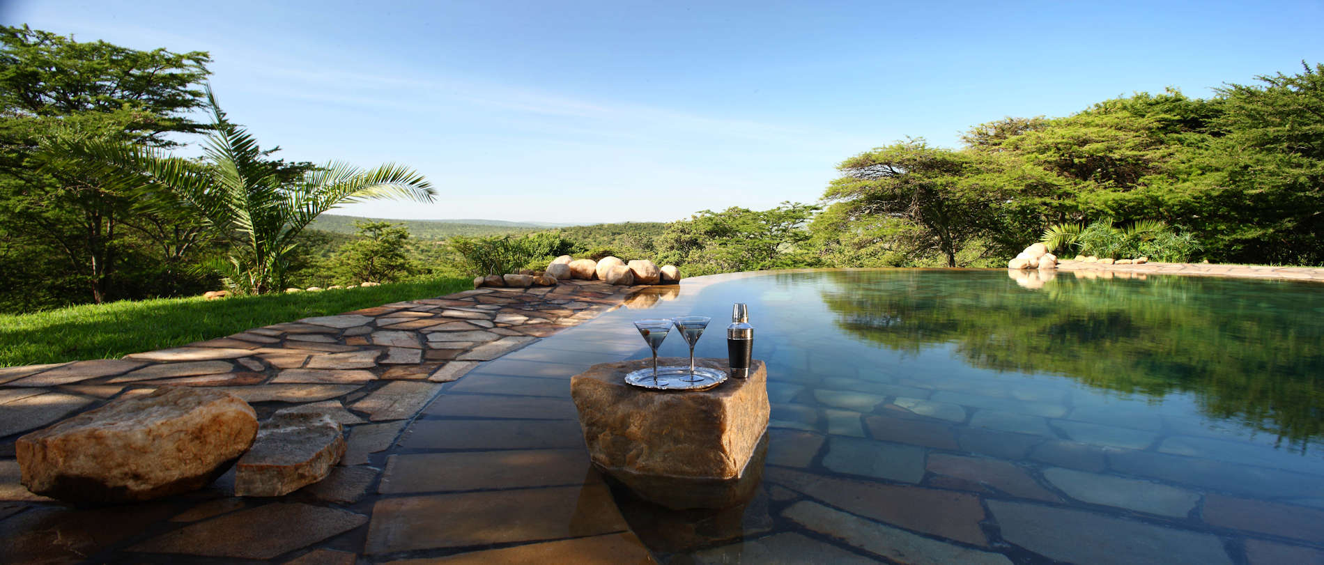 Cottars 1920 Camp Kenya - Pool with Bar - copyright Stevie Mann