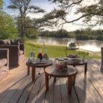Grumeti Serengeti Tented Camp - Terasse und Fluß