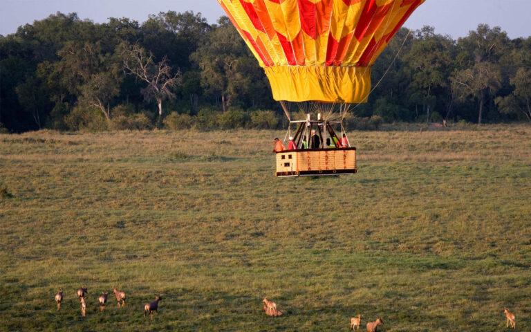 Tansania Safari Serengeti Heißluftballon