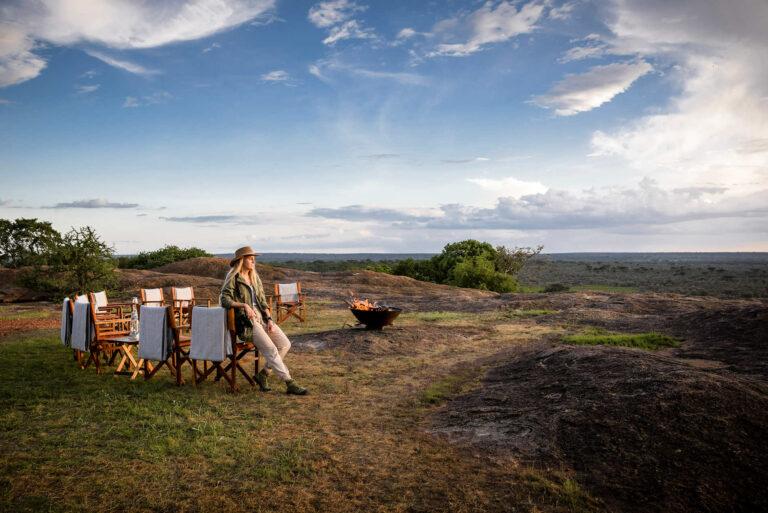 Lagerfeuer, Sanctuary Kichakani Serengeti Camp, Tansania