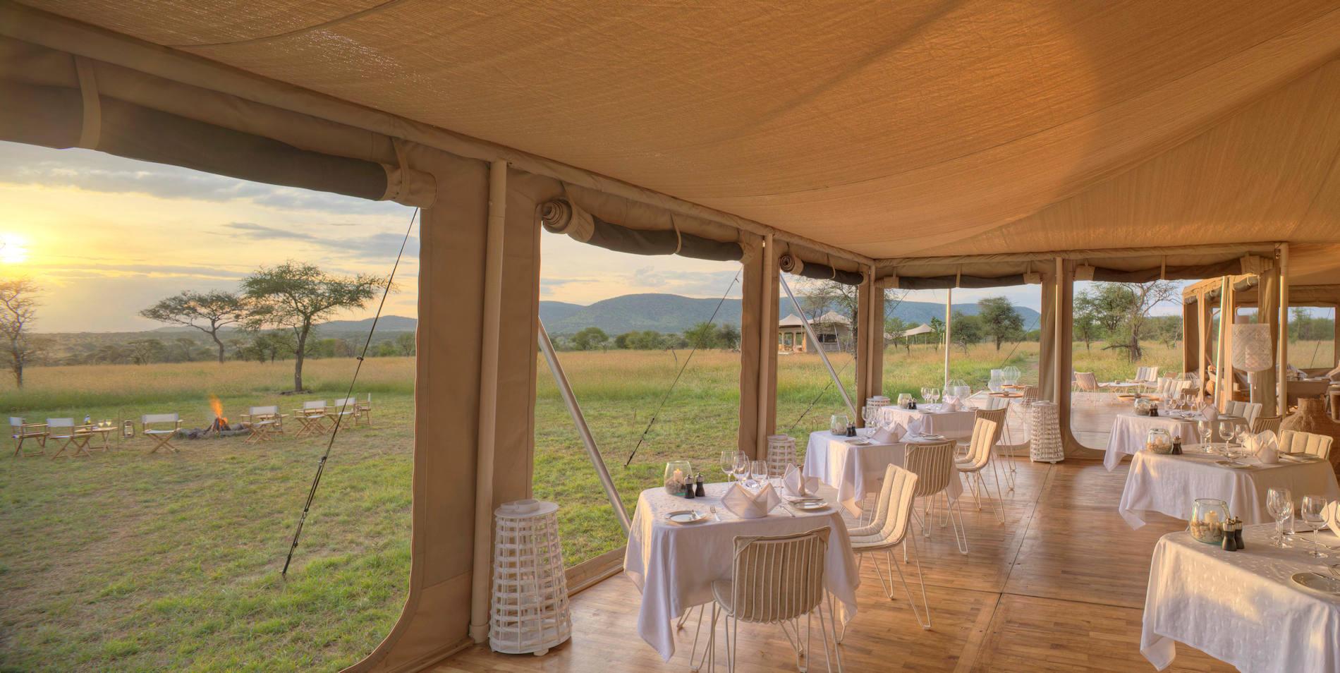 Terrasse, Roving Bushtops Serengeti, Tansania