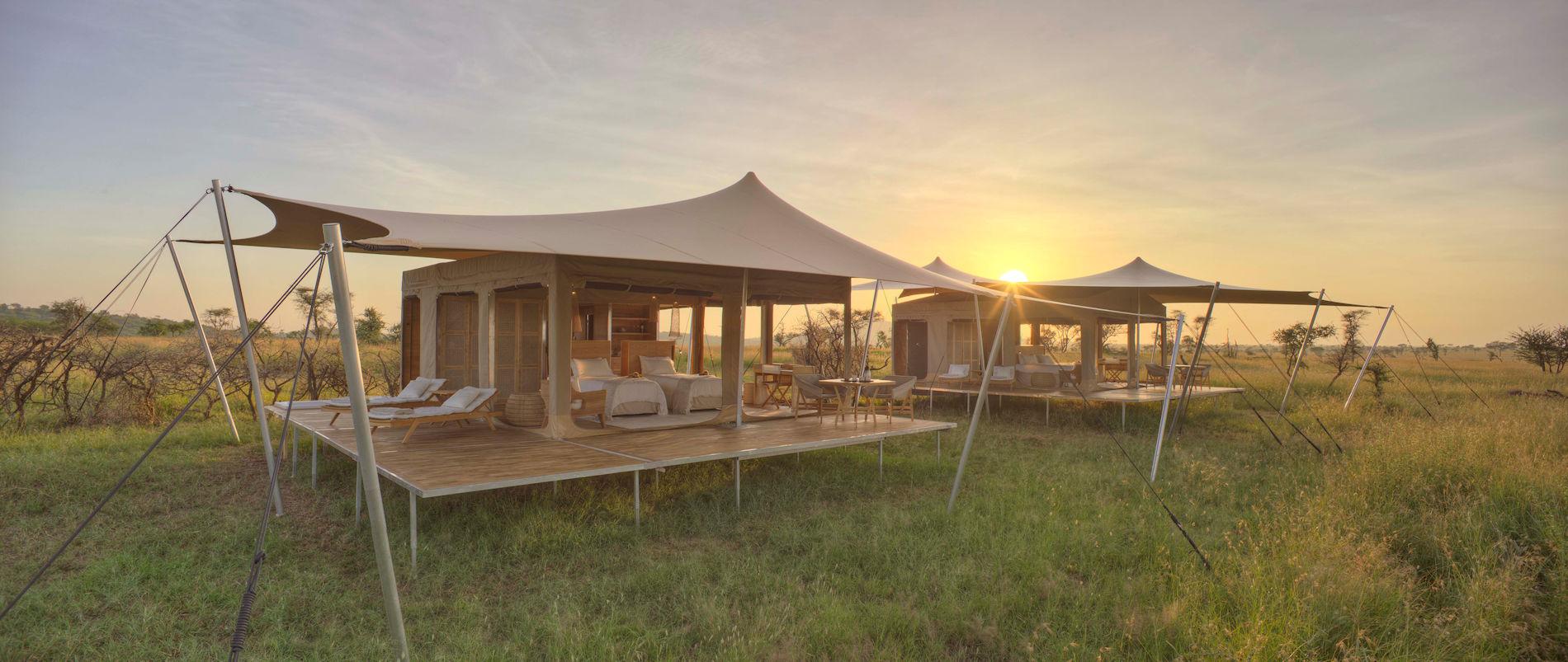 Zelte, Roving Bushtops Serengeti, Tansania
